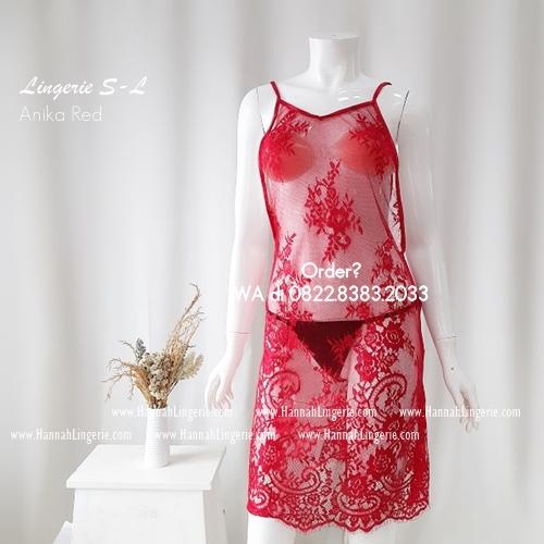 Lingerie S-L Seri: ANIKA Red
