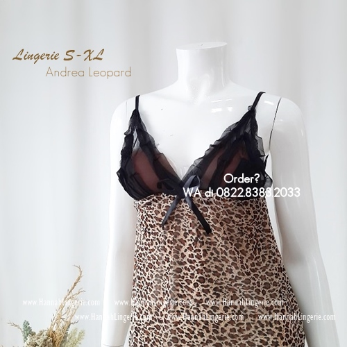Lingerie S-XL Seri: ANDREA Leopard
