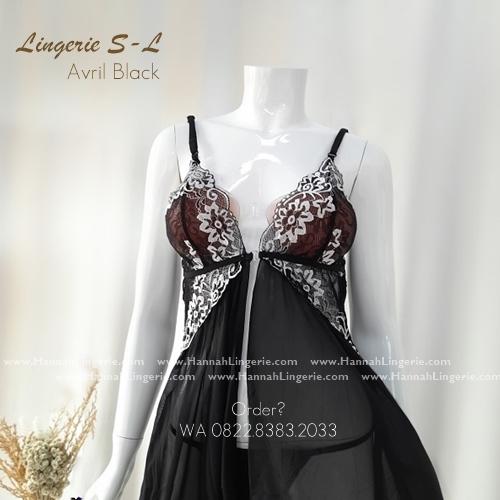 Lingerie S-L Seri: AVRIL Black