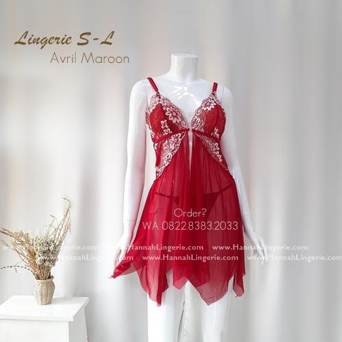 Lingerie S-L Seri: AVRIL Maroon