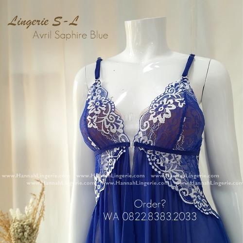 Lingerie S-L Seri: AVRIL BlueSaphire