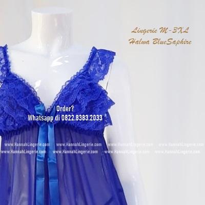 Lingerie M-XXXL Seri: Halwa BlueSaphire