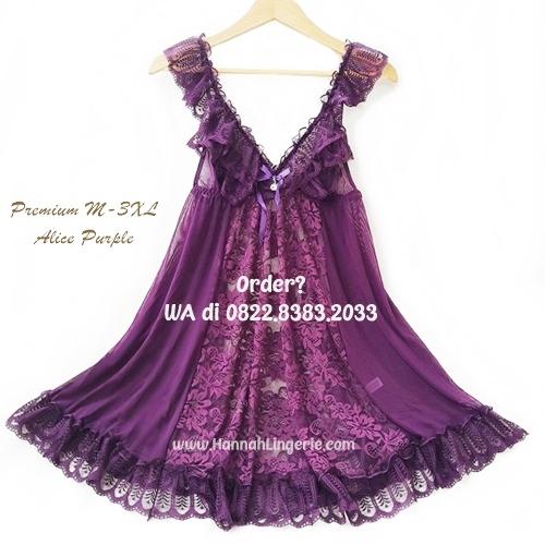Lingerie M-XXXL Seri: Alice Purple