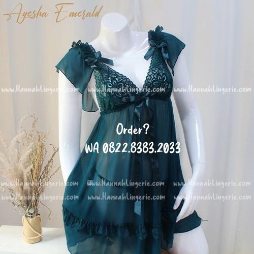 Lingerie M-XXXL Seri: AYESHA Emerald