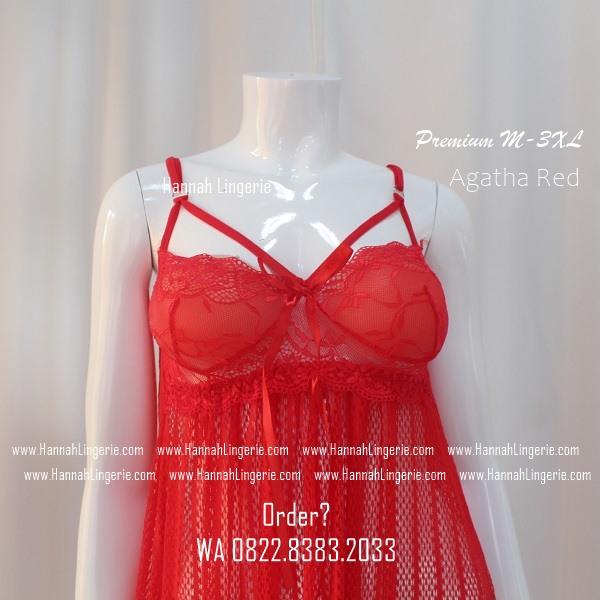 Lingerie M-XXXL Seri: AGATHA Red