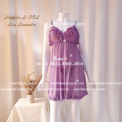 Lingerie L-3XL Seri: LILY Lavender