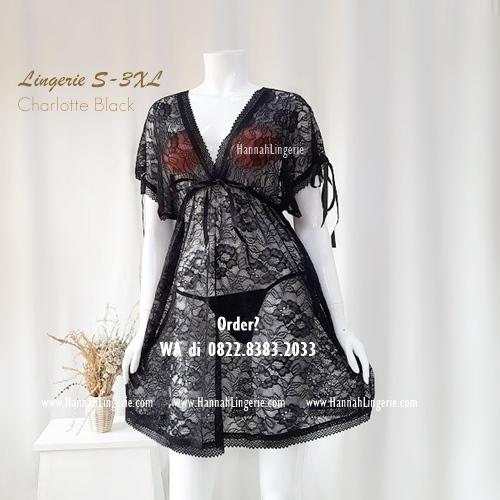Lingerie Premium S-XXXL Seri: CHARLOTTE Black