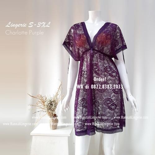 Lingerie S-XXXL Seri: CHARLOTTE Purple