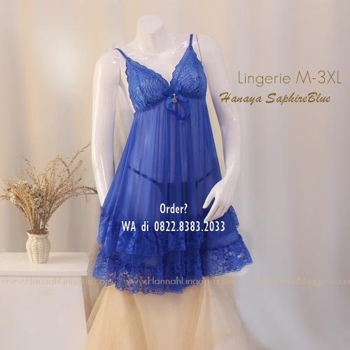 Lingerie Premium M-3XL Seri: Hanaya BlueSaphire