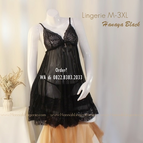 Lingerie M-3XL Seri: HANAYA Black