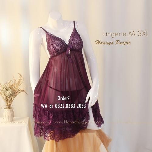 Lingerie Premium M-3XL Seri: Hanaya Purple