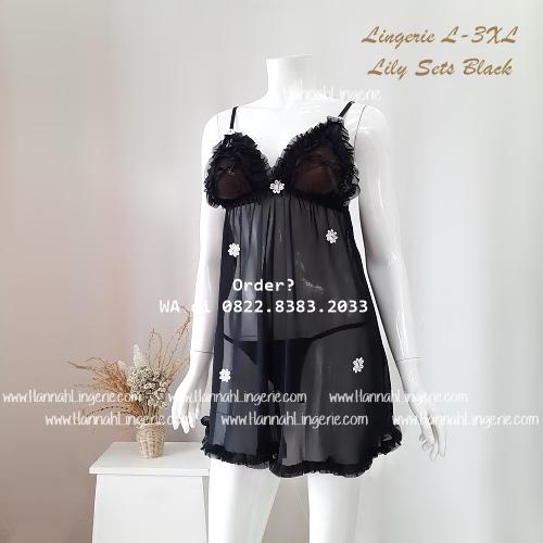 Lingerie L-3XL Seri: LILY Black
