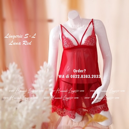 Lingerie S-L Seri: Luna Red/Black/White