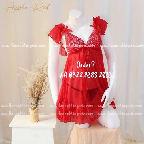 Lingerie M-XXXL Seri: AYESHA Red