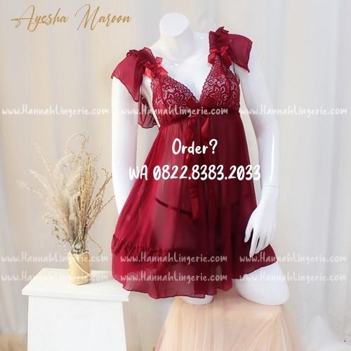 Lingerie M-XXXL Seri: AYESHA Maroon