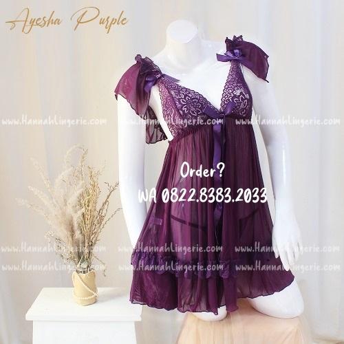 Lingerie M-XXXL Seri: AYESHA Purple