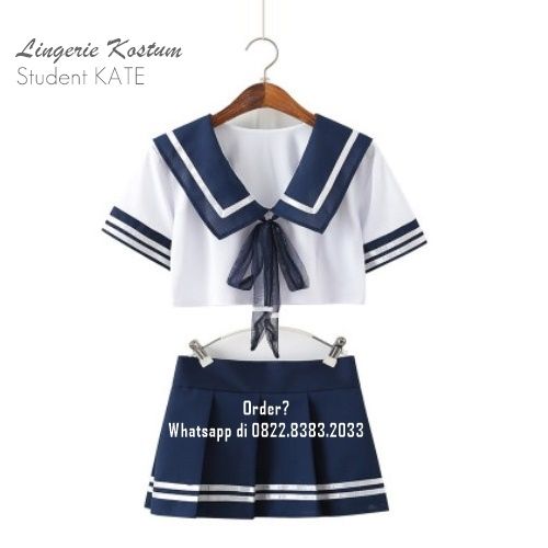 Lingerie S-M Seri: Cosplay Student KATE