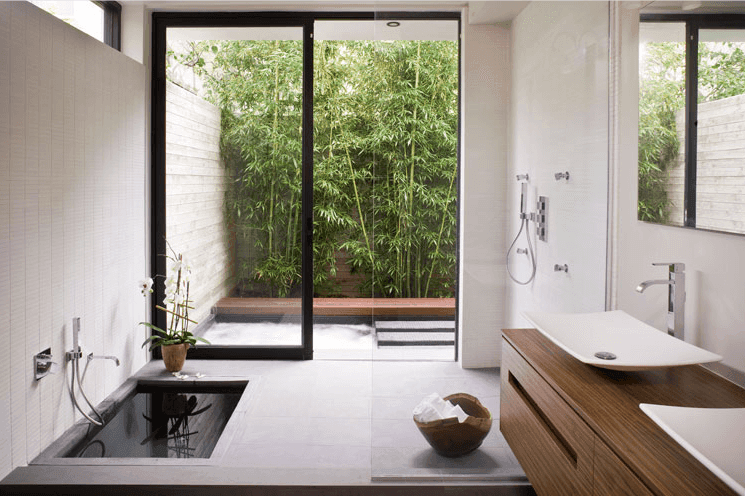 hasil penelusuran terbaik artikel desain kamar mandi dengan taman